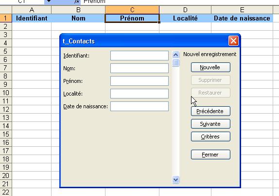 Cr er et utiliser une grille de saisie dans excel - Creer une grille de mots croises en ligne ...